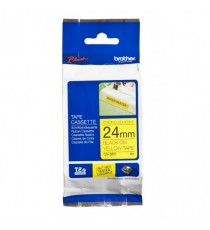 BROTHER TZE-S651 24MM BLACK ON YELLOW TAPE 8MTR